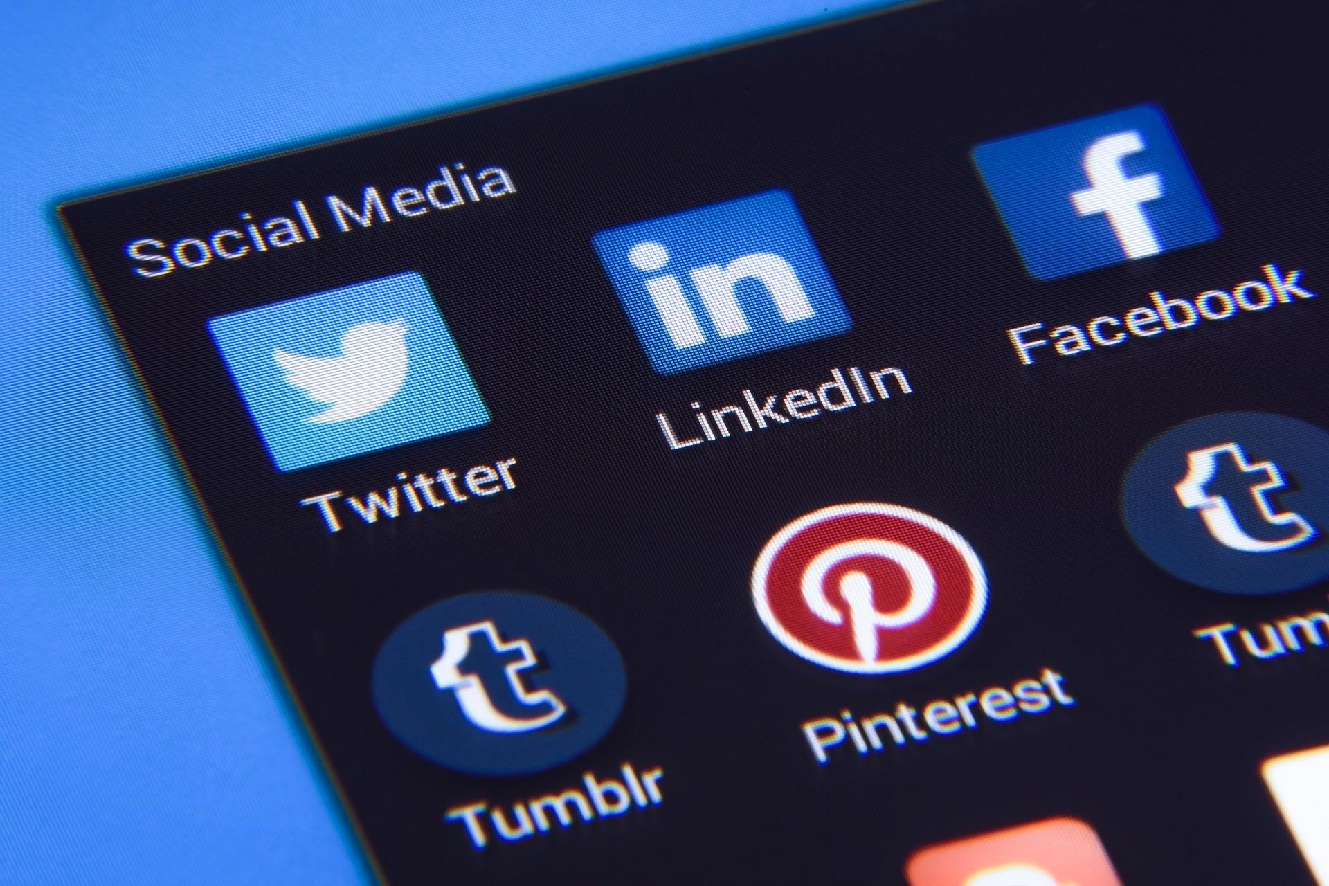 Social media icons: Linkedin profile optimisation