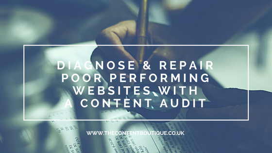Diagnose & repair poor performing websites with a content audit