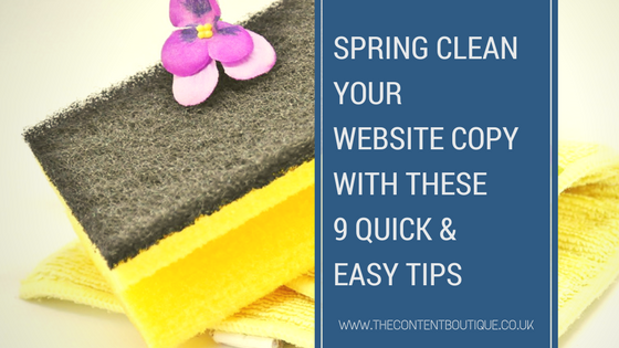 Spring clean your website 9 quick & easy tips