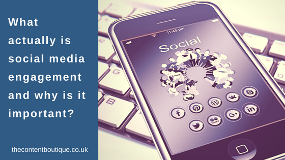 social media engagement on a mobile device