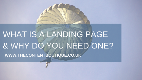 What is a landing page and why do you need one?