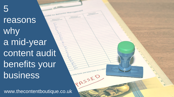 Rubber stamped checklist: Reasons why a mid-year content audit benefits your business
