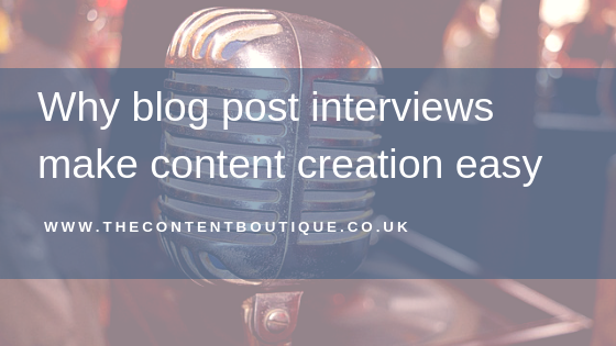 Why blog post interviews make content creation easy