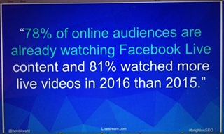 Live video in content marketing