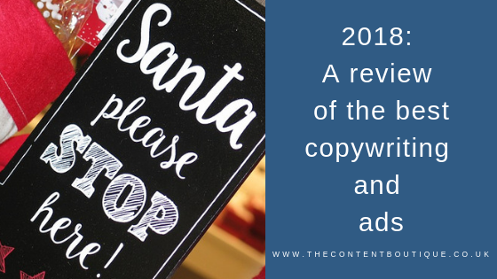 Best Creative Copywriting 2018 | A review of my favourite ads