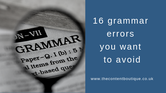 16 grammar errors you want to avoid