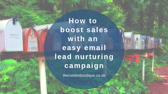 How to boost sales with an easy email lead nurturing campaign
